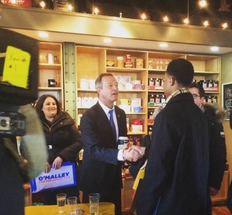 """""""Chase the Race"""" reporter Charles Graham interviews former Maryland Gov. Martin O'Malley in Iowa"""
