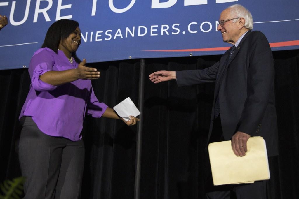 Image: Bernie Sanders, Erica Garner