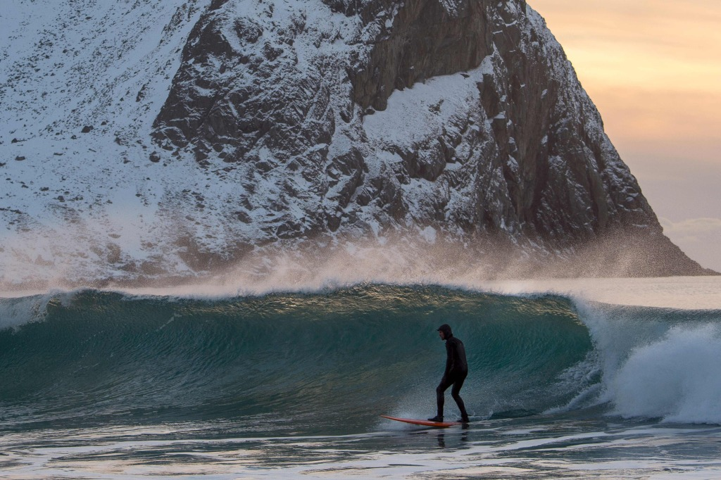 Arctic Surfers Brave Icy Waters Seeking Pristine Waves