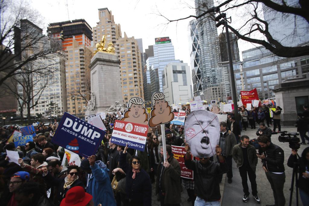 Image: Anti-Trump Rally Held In New York City