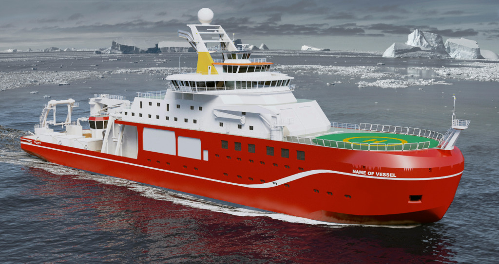 Image: An artist's impression of the polar research vessel being built for Britain's Natural Environment Research Council