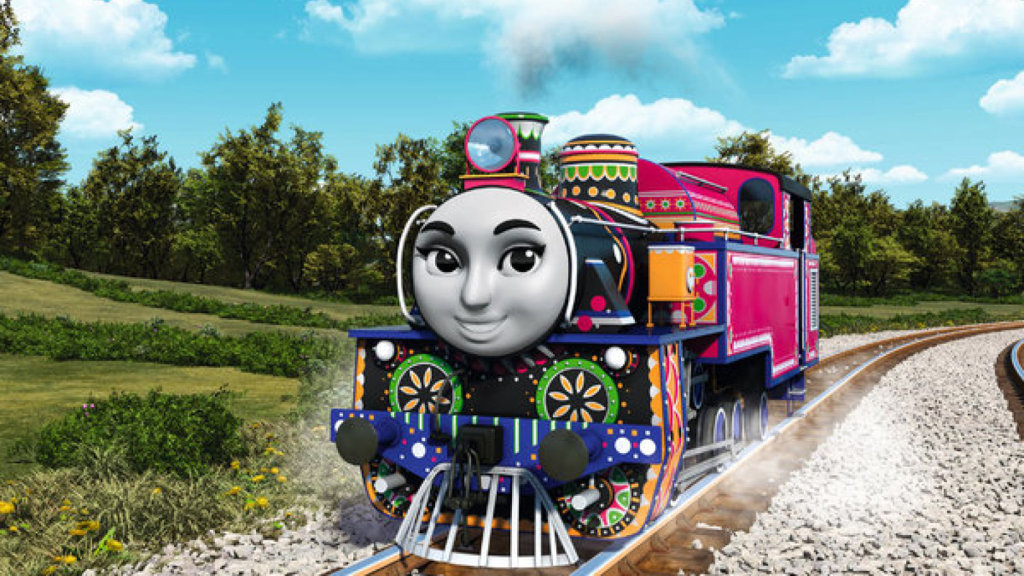 Image: Ashinma, a new character in the 'Thomas the Tank Engine' series by Mattel.