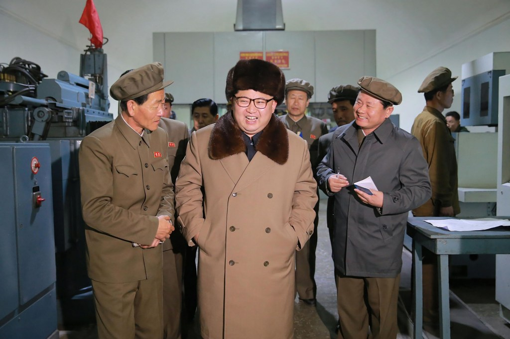 Image: A newly-released undated photo of North Korean leader Kim Jong Un.