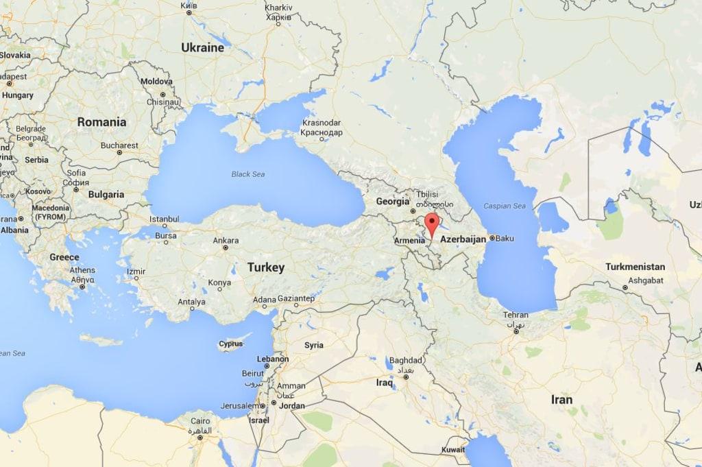 Image: Map showing Nagorno-Karabakh