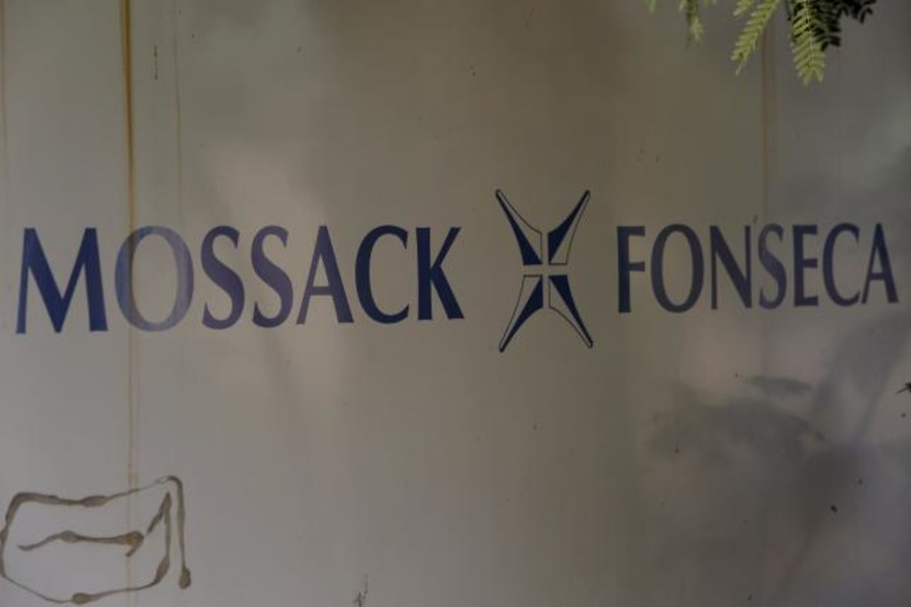 A Mossack Fonseca law firm logo is pictured in Panama City