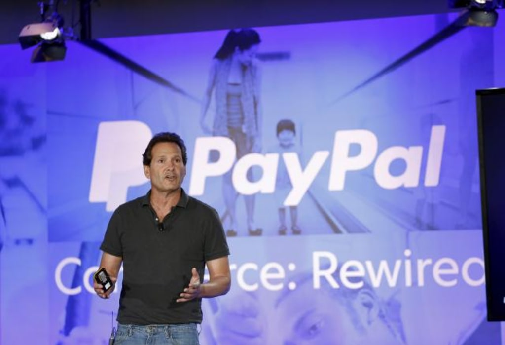 File photo of PayPal President and CEO designee Dan Schulman speaking during an event at Terra Gallery in San Francisco
