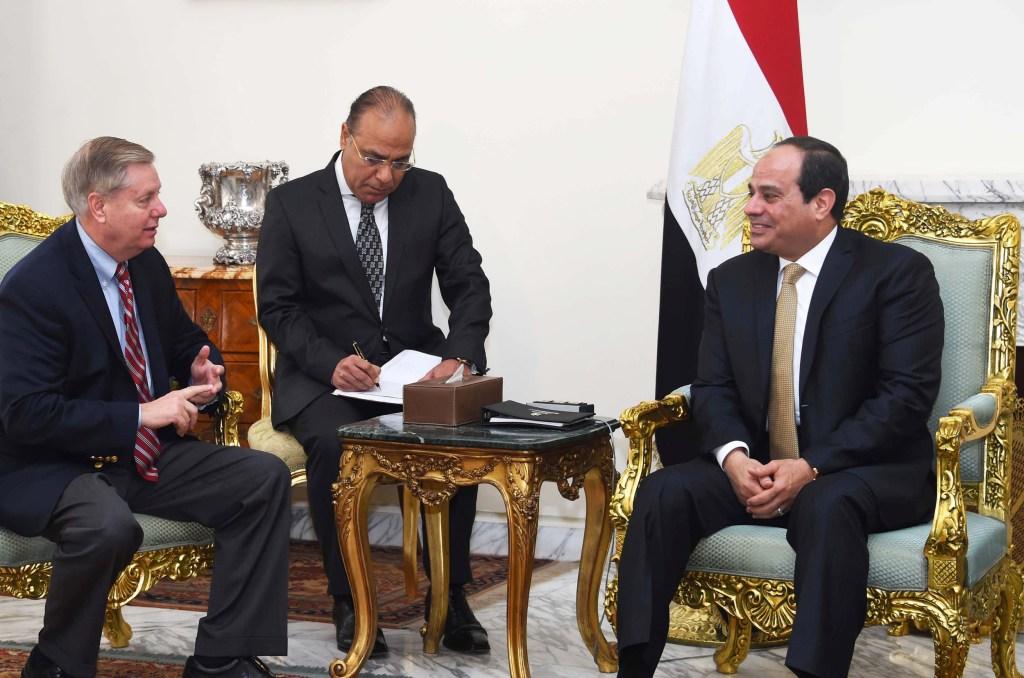 Image: Abdel-Fattah el-Sissi, Lindsey Graham