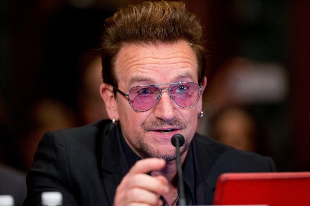 Image: Bono testifies on Capitol Hill