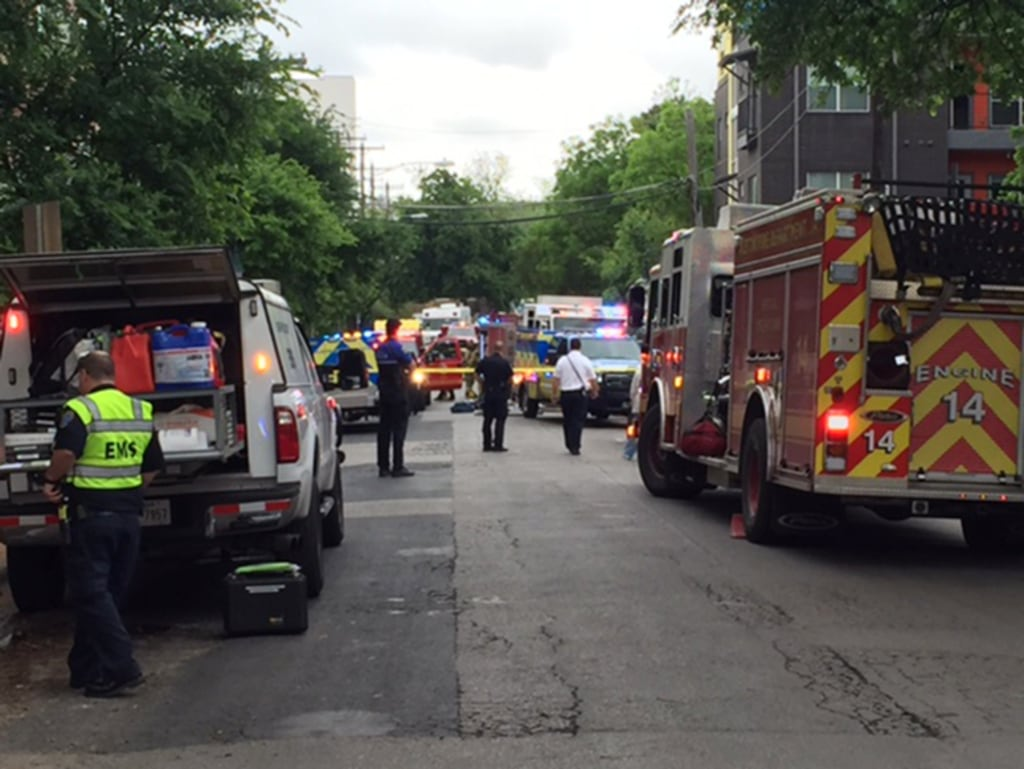 Image: Firefighters respond to a hazmat situation in Austin