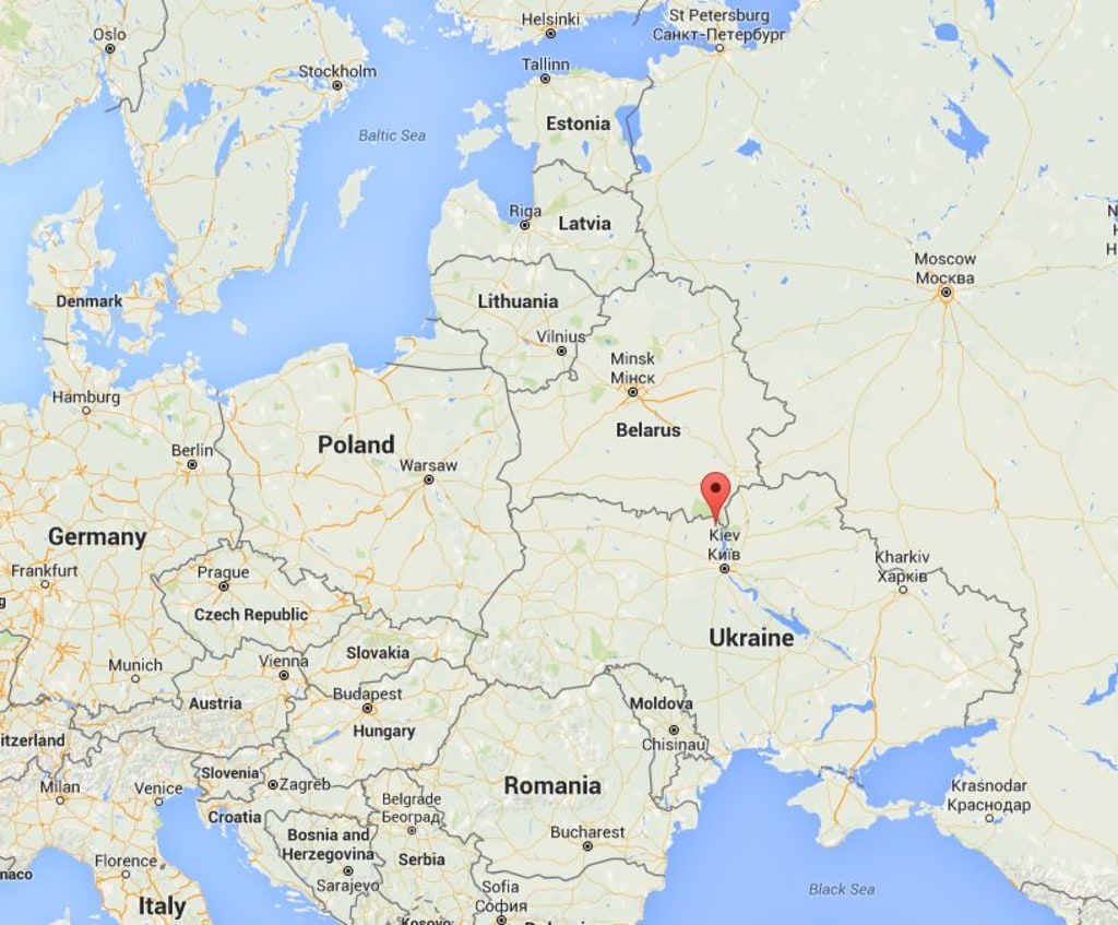 Image: Map showing Chernobyl, Ukraine