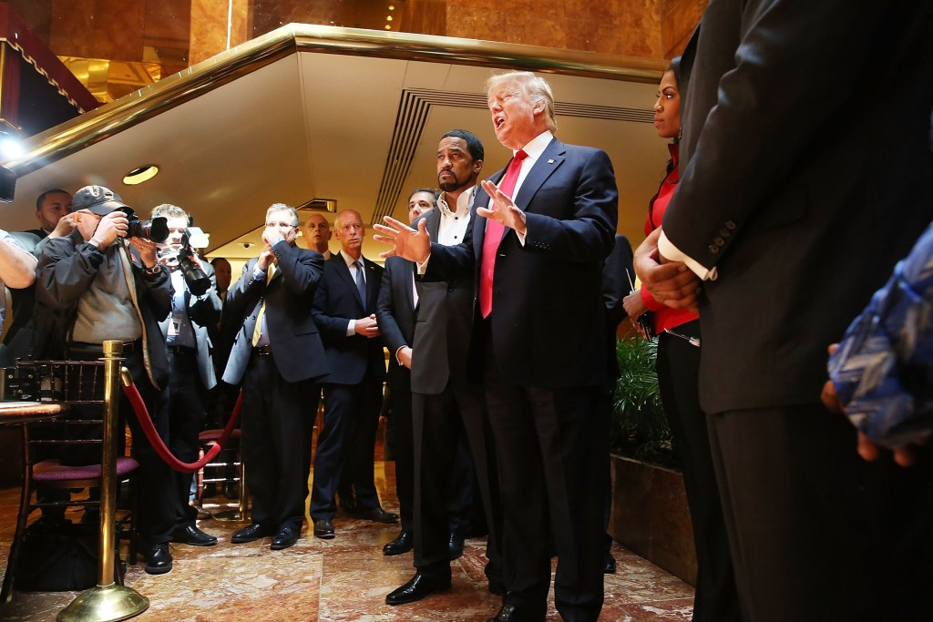 Image: Donald Trump Speaks After Meeting With National Diversity Coalition