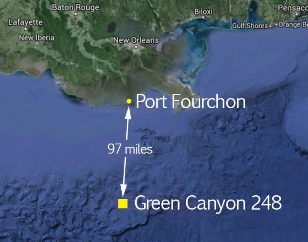 image map of oil spill site