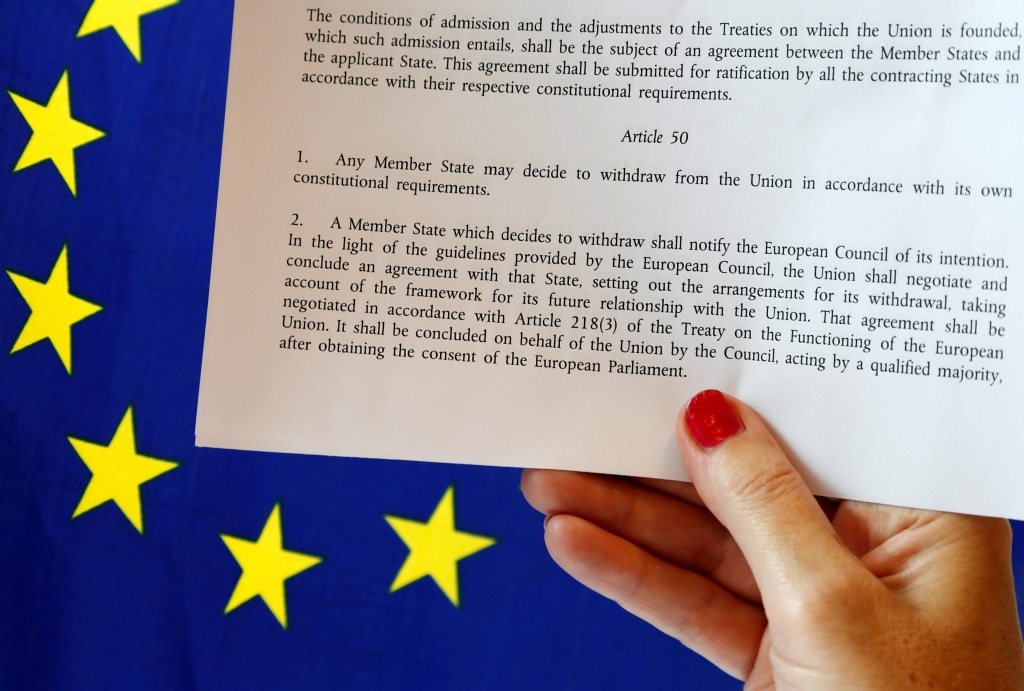 Image: Article 50 of the EU's Lisbon Treaty