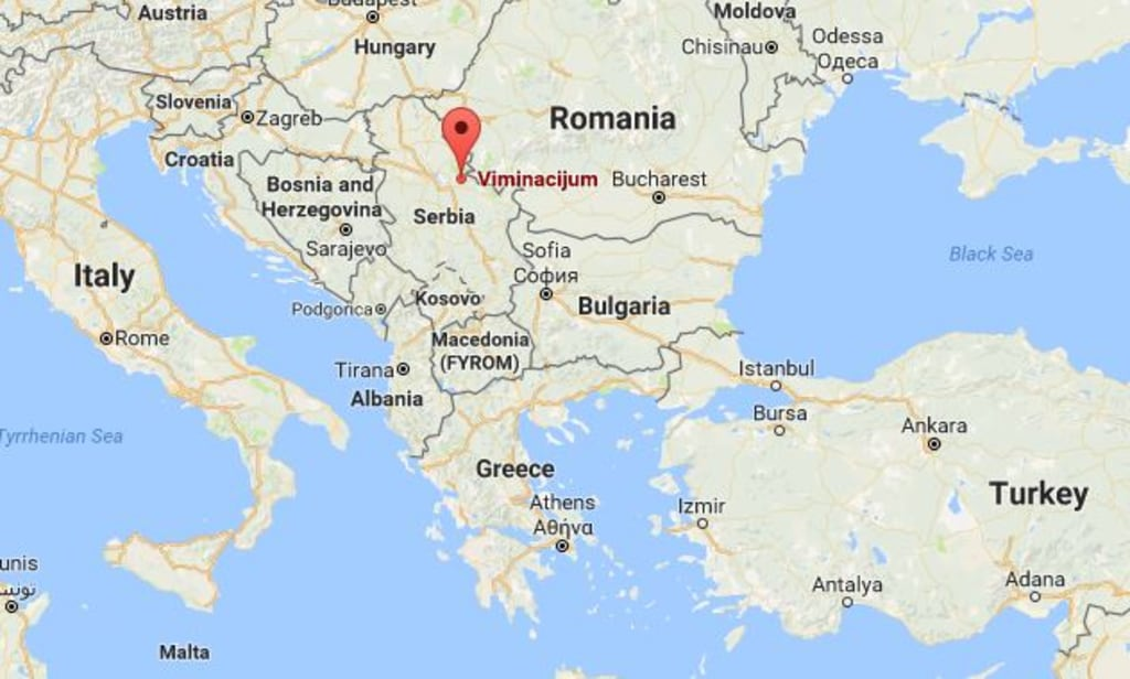 Roman Curse Tablets Made Of Gold Discovered In Viminacium - Where is serbia located on the world map