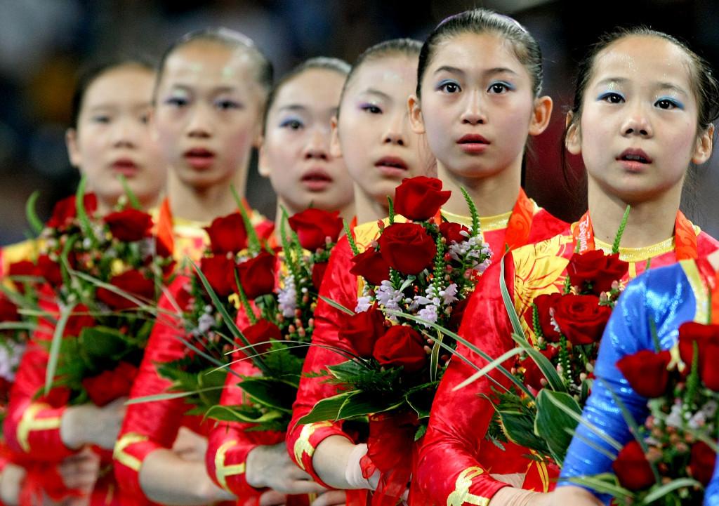 Image: Cheng Fei, Deng Linlin, He Kexin, Jiang Yuyuan, Li Shanshan and Yang Yilin in 2008