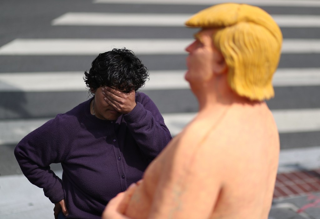 Image: Naked Donald Trump Statues Appear In Various U.S. Cities