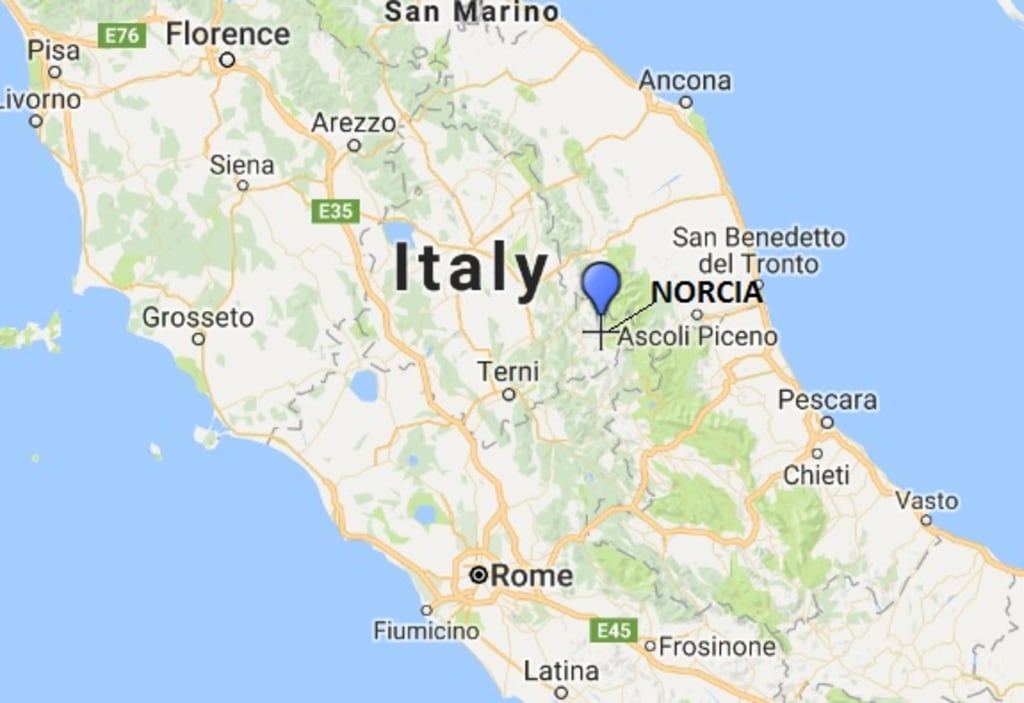 IMAGE: Map of Norcia, Italy