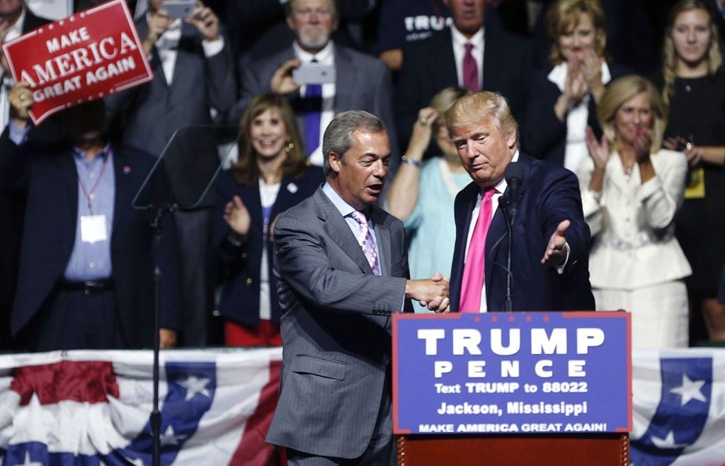 Image: Donald Trump, Nigel Farage