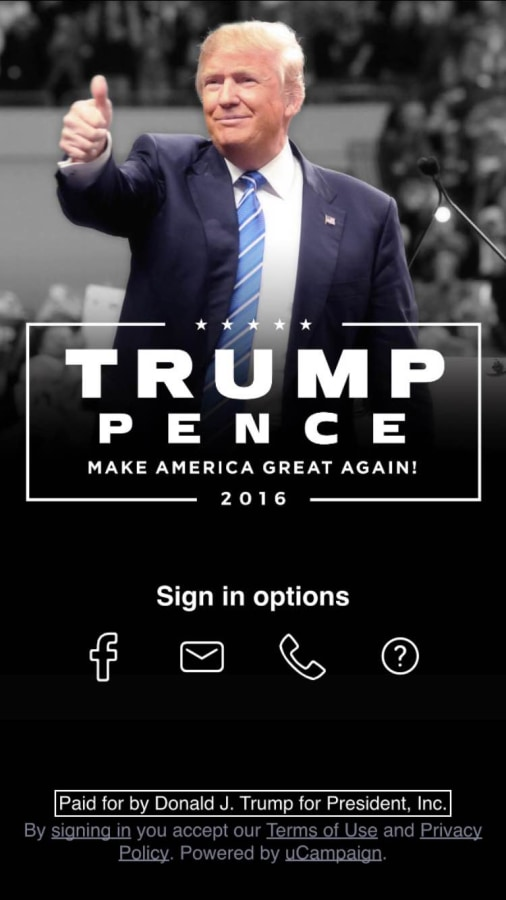 """The Trump campaign's """"America First"""" app may be pulling more personal information than people realize."""