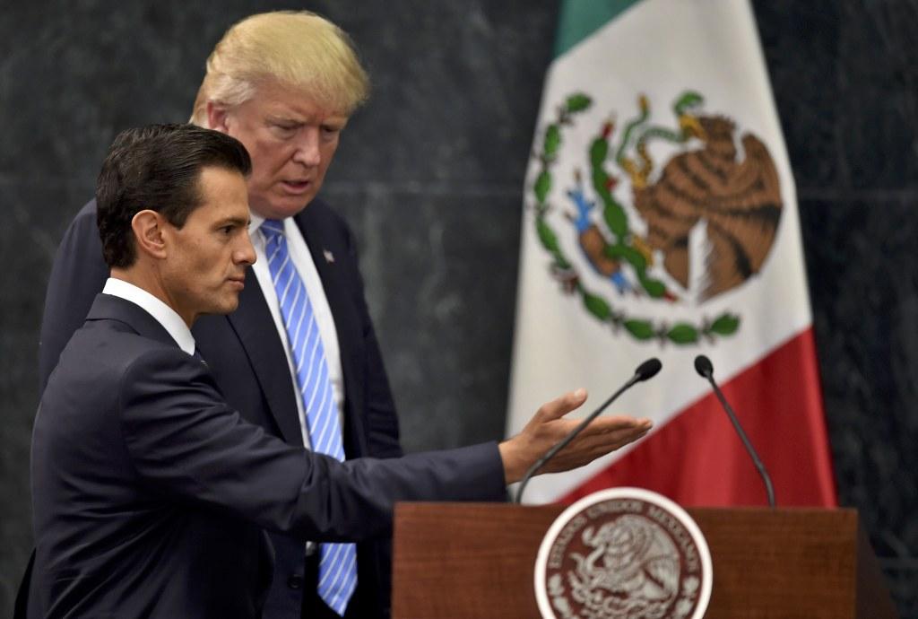 Image: MEXICO-US-PENA NIETO-TRUMP