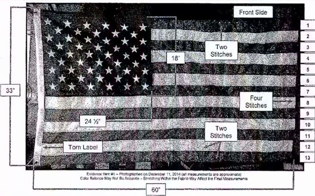 IMAGE: 9/11 flag forensics report