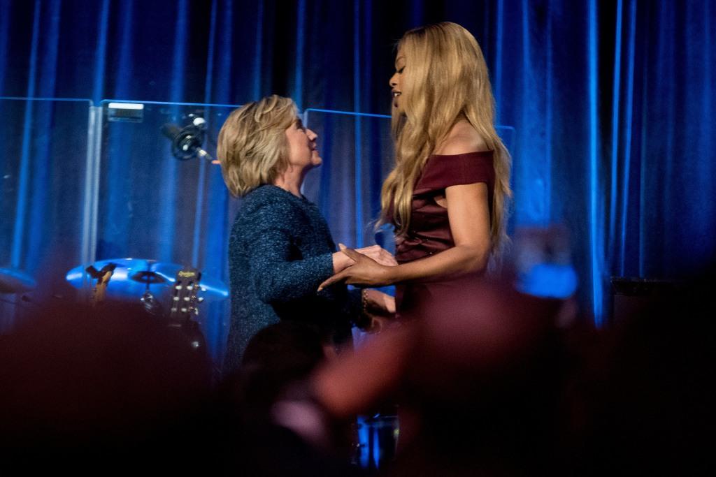 Image: Hillary Clinton, Laverne Cox