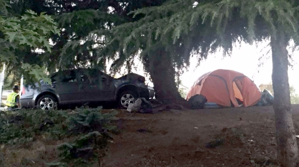 IMAGE: Seattle homeless camp accident