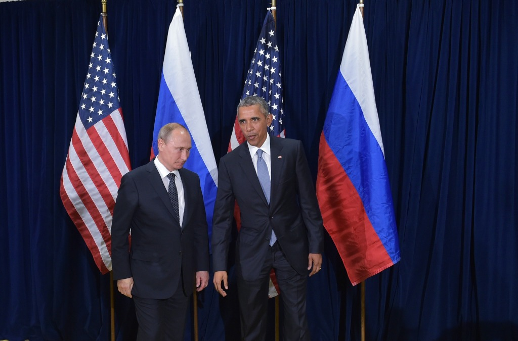 Image: Vlaidmir Putin and Barack Obama