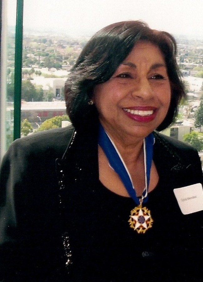 Sylvia Mendez, 2016.  She is now an advocate for Latino educational issues.