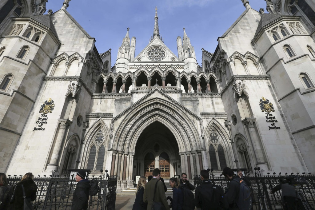 Image: The High Court in London