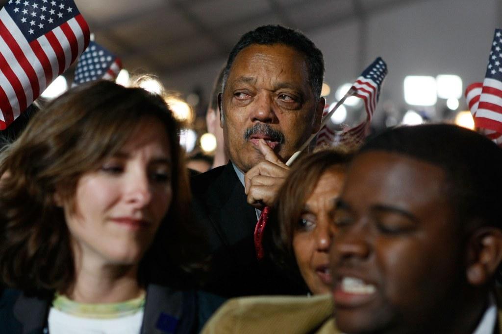 Image: Barack Obama Holds Election Night Gathering In Chicago's Grant Park