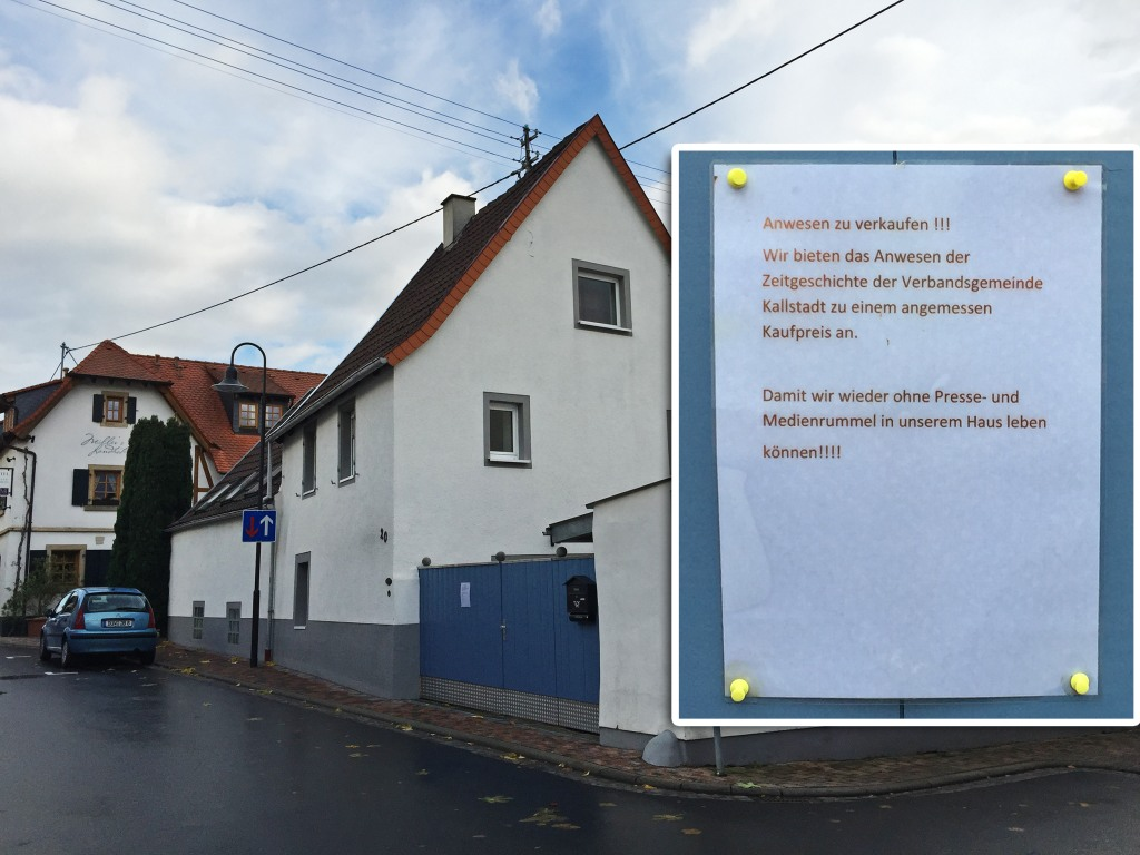 Image: A house that once belonged to Donald Trump's ancestors in Kallstadt, Germany
