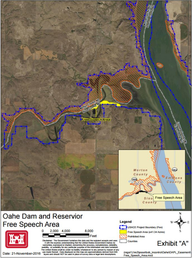 Image: Oahe Dam and Free Speech Area