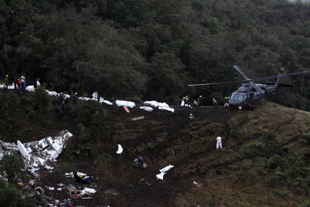 Image: Colombia plane crash