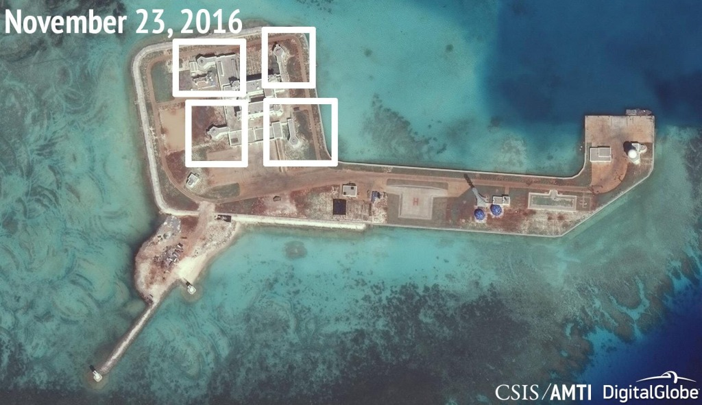 South China Sea Artificial Islands Have Weapons Installed Report