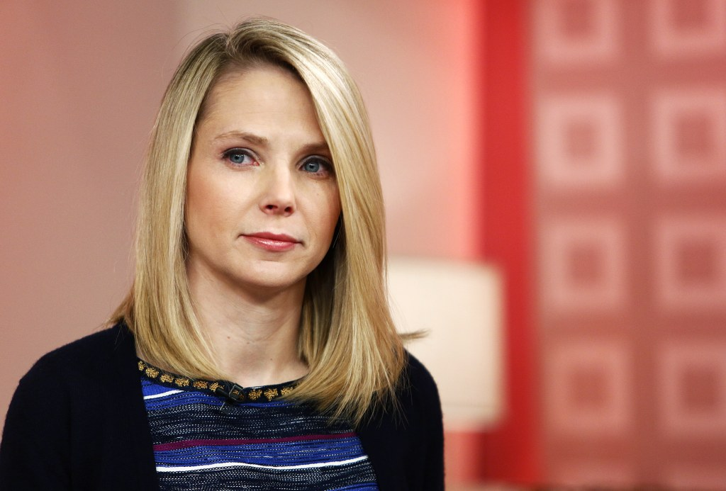 "Image: Yahoo CEO Marissa Mayer appears on NBC News' ""Today"" show on Feb. 20, 2013 in New York."