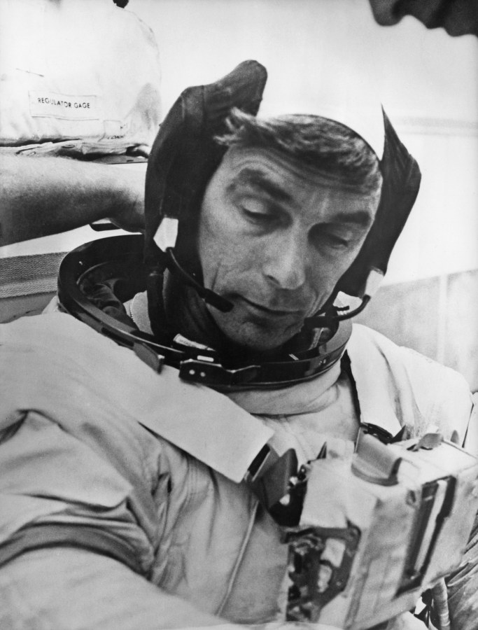 Image: NASA astronaut Eugene Cernan, Commander of the Apollo 17 lunar mission, in 1972.