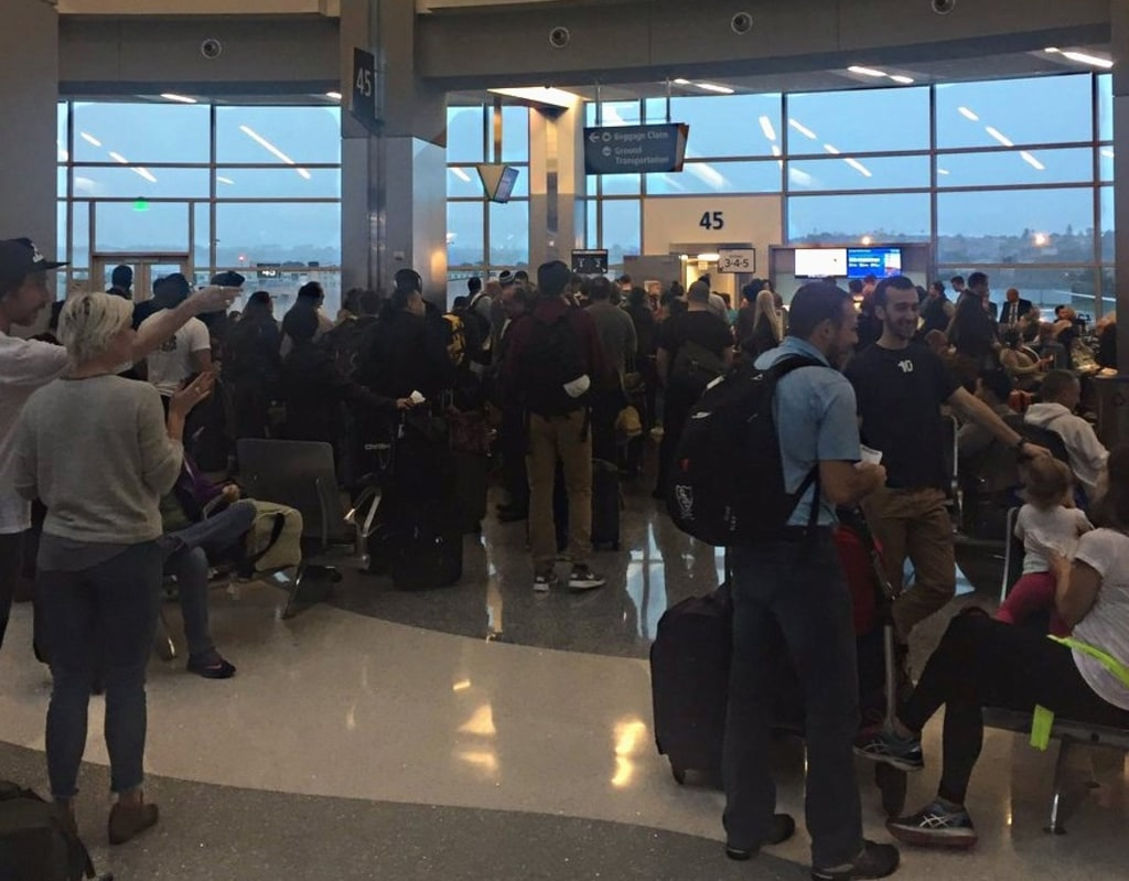 IMAGE: United Airlines delay in San Diego