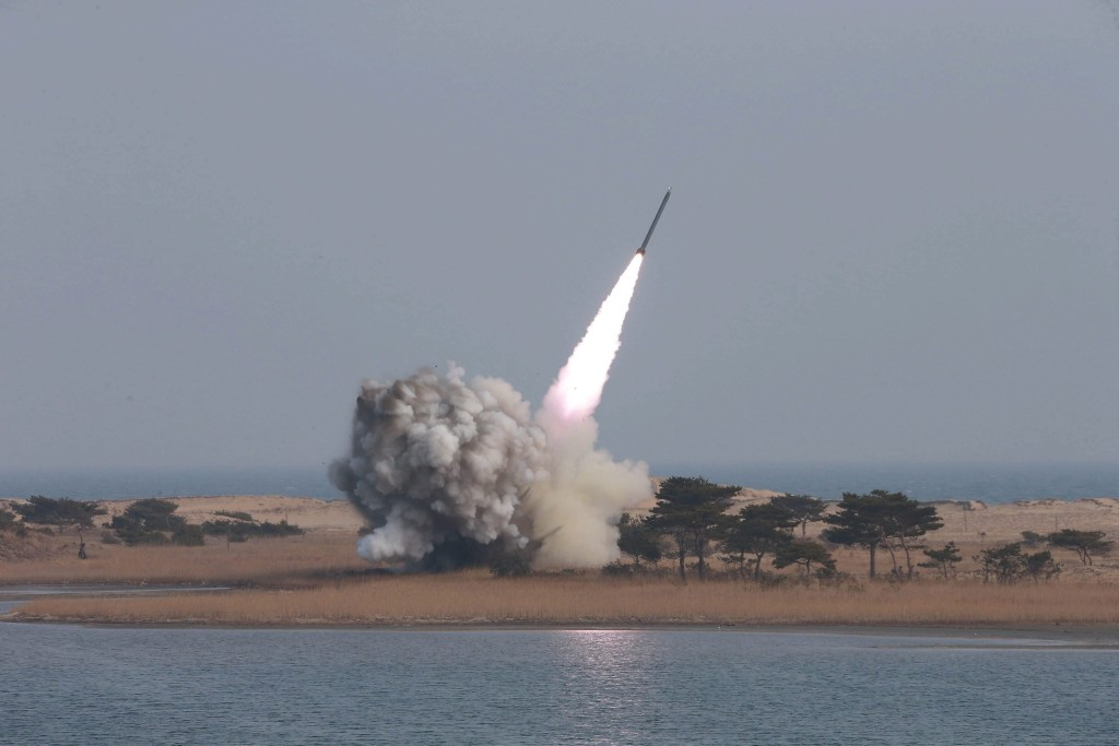 Image: North Korea launches projectile into the sea