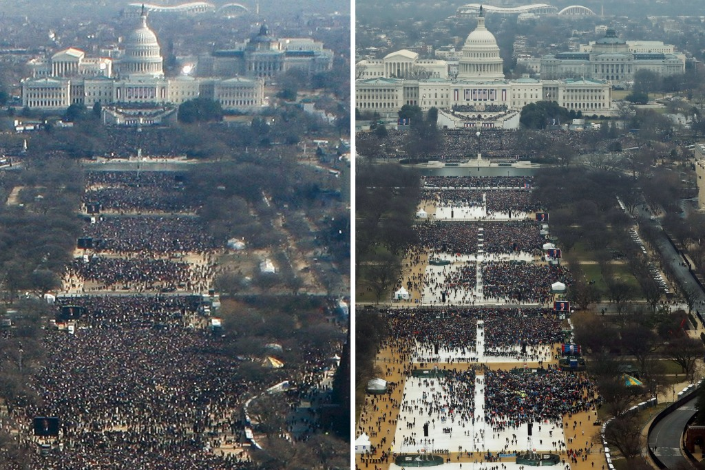 Image: Trump, Obama inaugurations