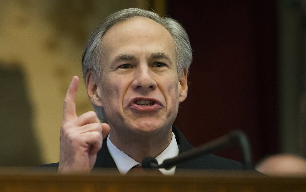 Image: Texas Gov. Greg Abbott delivers his State of the State address to a joint session of the House and Senate on Jan. 31 at the Texas Capitol in Austin, Texas.