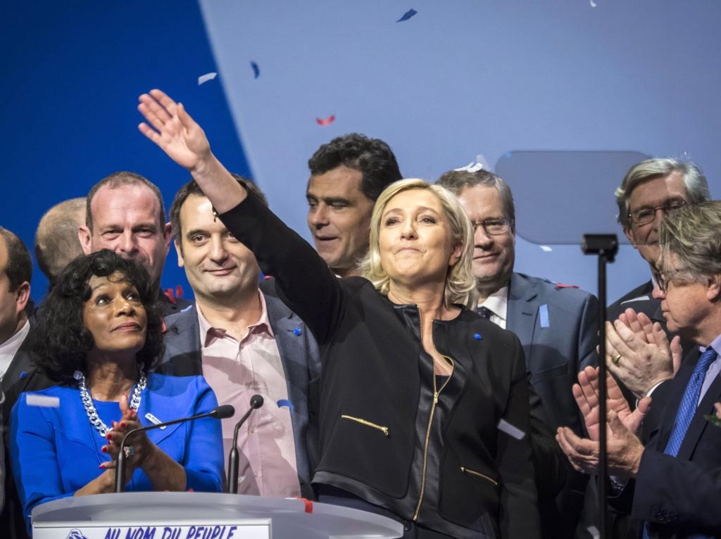 Image: Marine Le Pen presidential meeting in Lyon