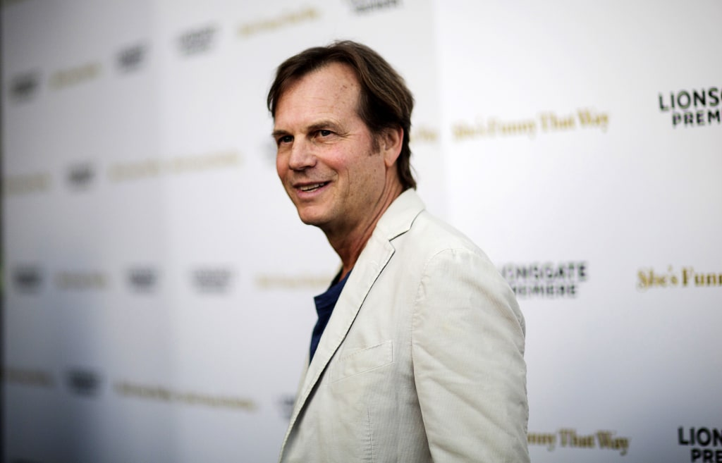 """Image: Actor Bill Paxton poses at the premiere of """"She's Funny That Way"""" in Los Angeles, California, Aug. 19, 2015."""