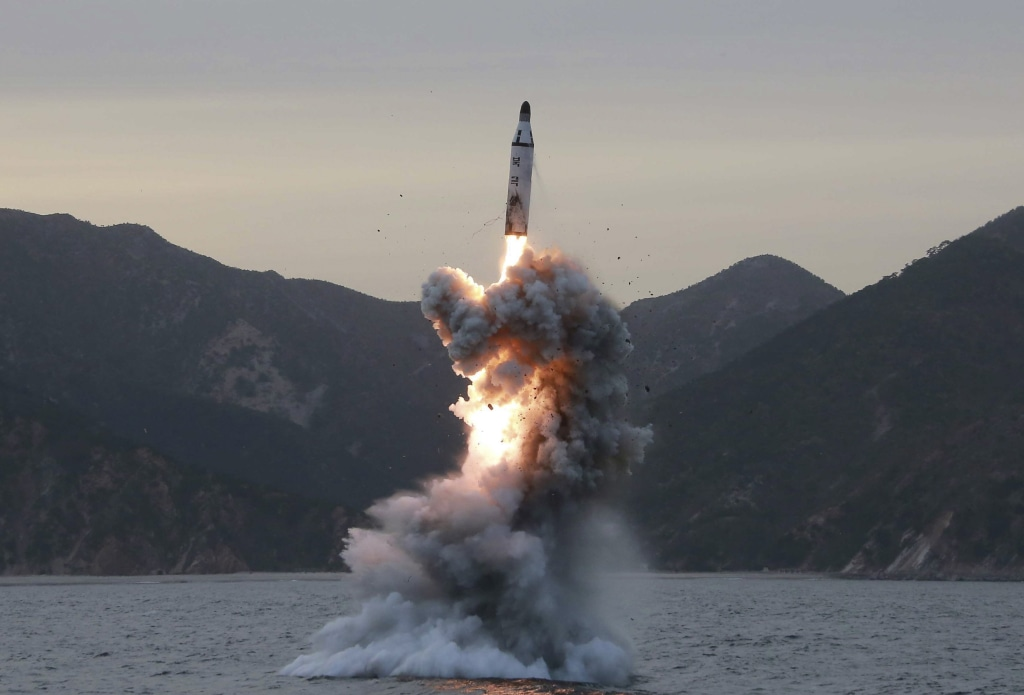 Image: Missile being fired