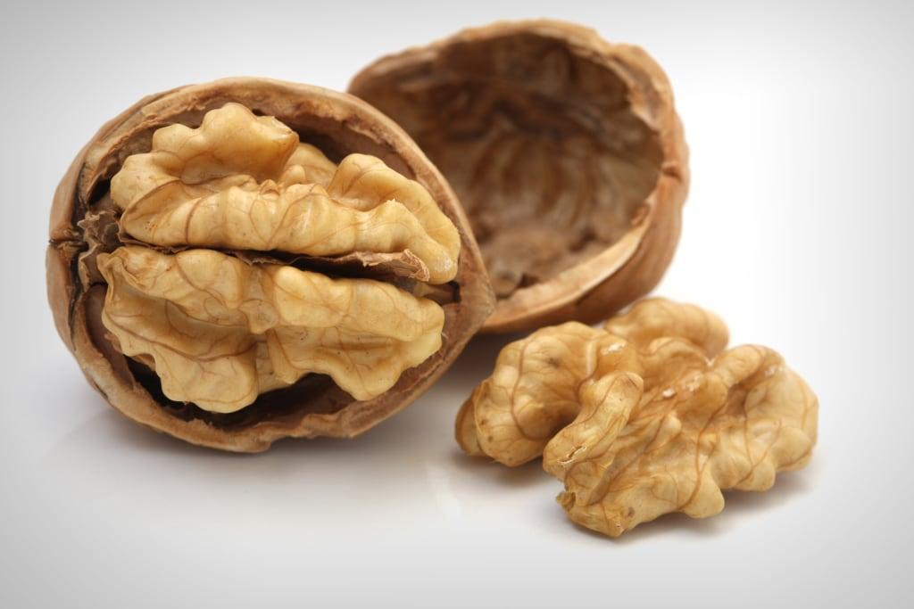 Walnuts Isolated on White Background