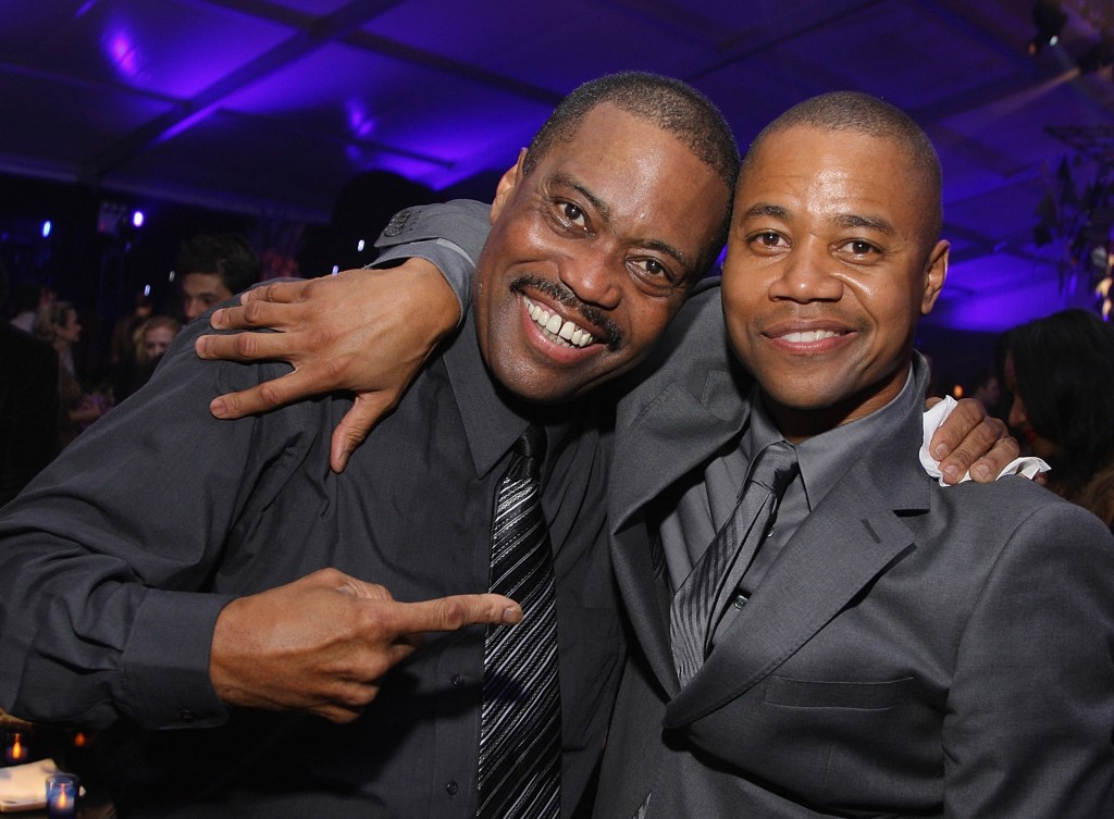 Image: Cuba Gooding Jr. with his father Cuba Gooding Sr.