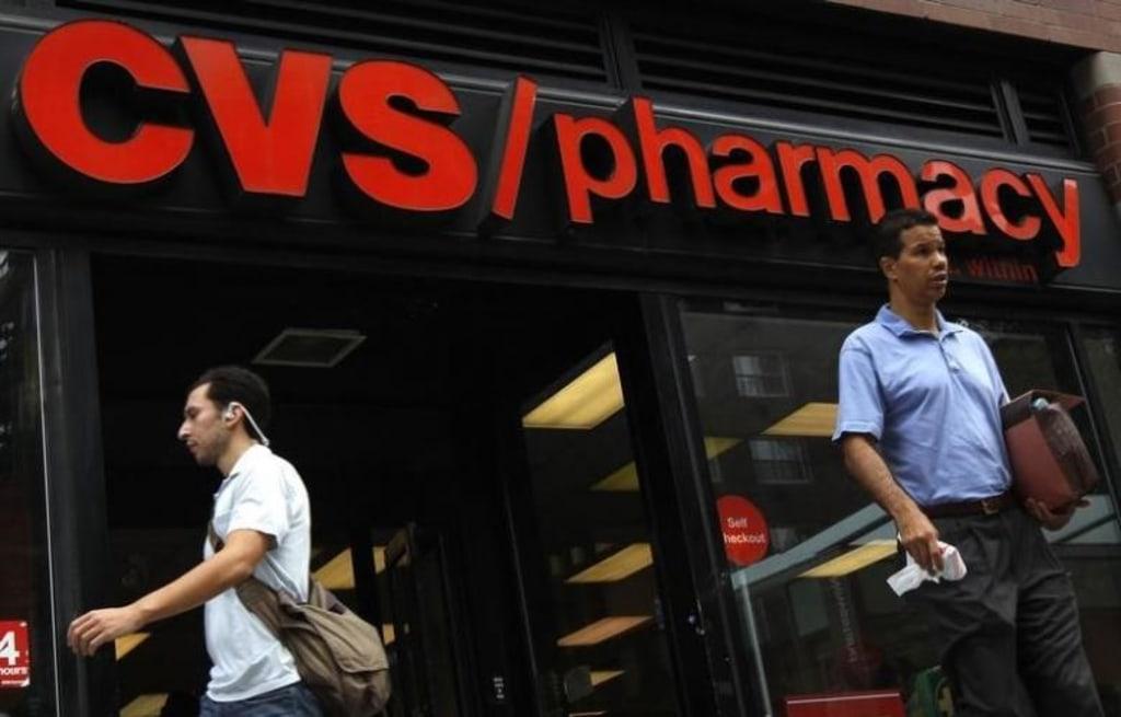 A CVS pharmacy is seen in New York City