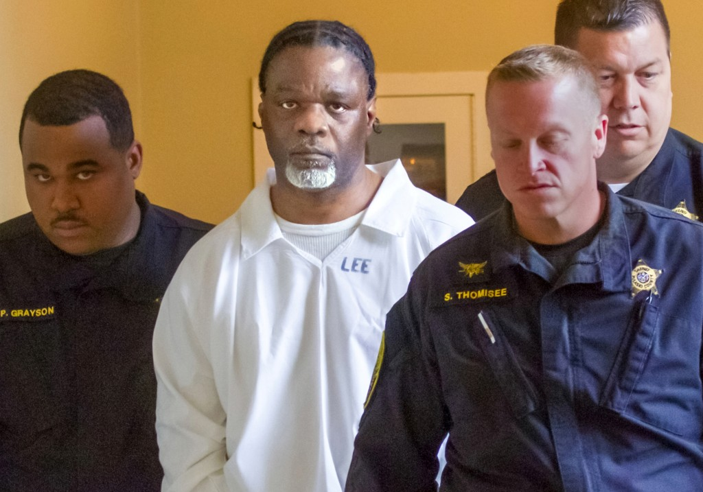Image: Ledell Lee appears in Pulaski County Circuit Court for a hearing in which lawyers argued to stop his execution, April 18, 2017. He was executed on April 20, 2017.