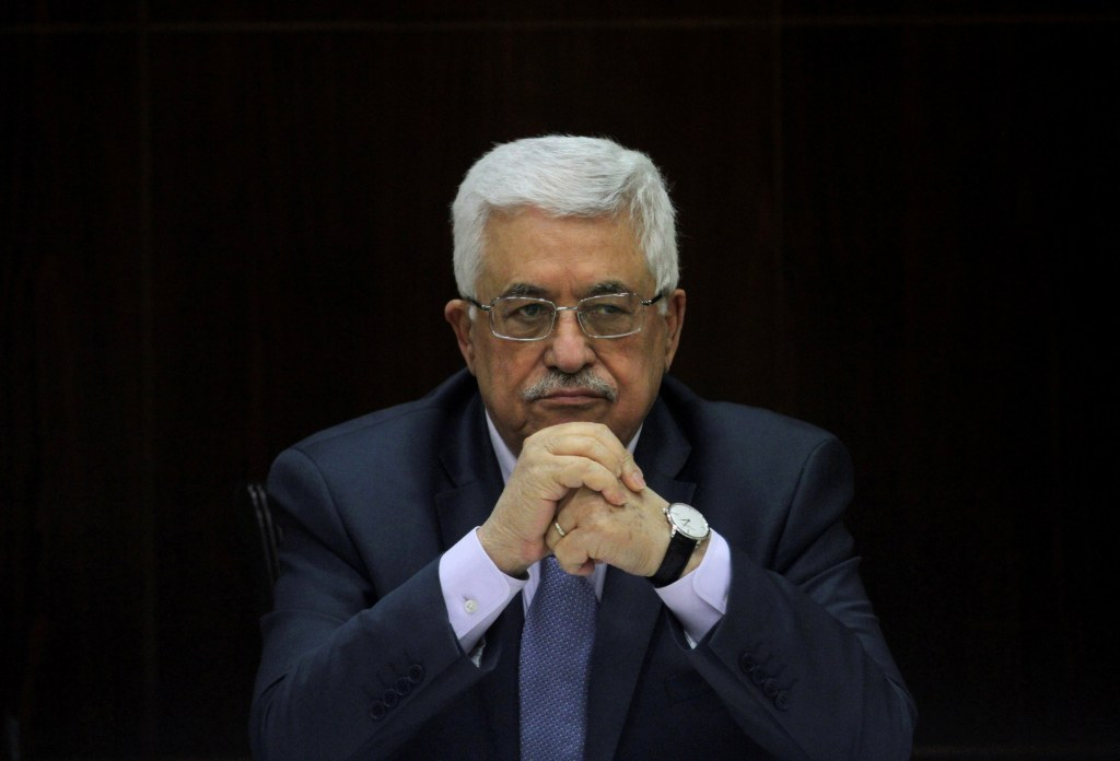 Image: Palestinian President Abbas heads a cabinet meeting in Ramallah