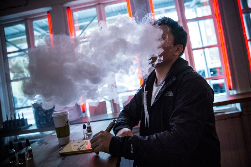 Image: BESTPIX New E-Cigarette Regulations Go Into Effect In New York City And Chicago